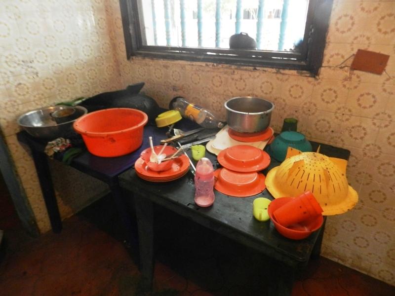 Insalubridad en la cocina del lugar