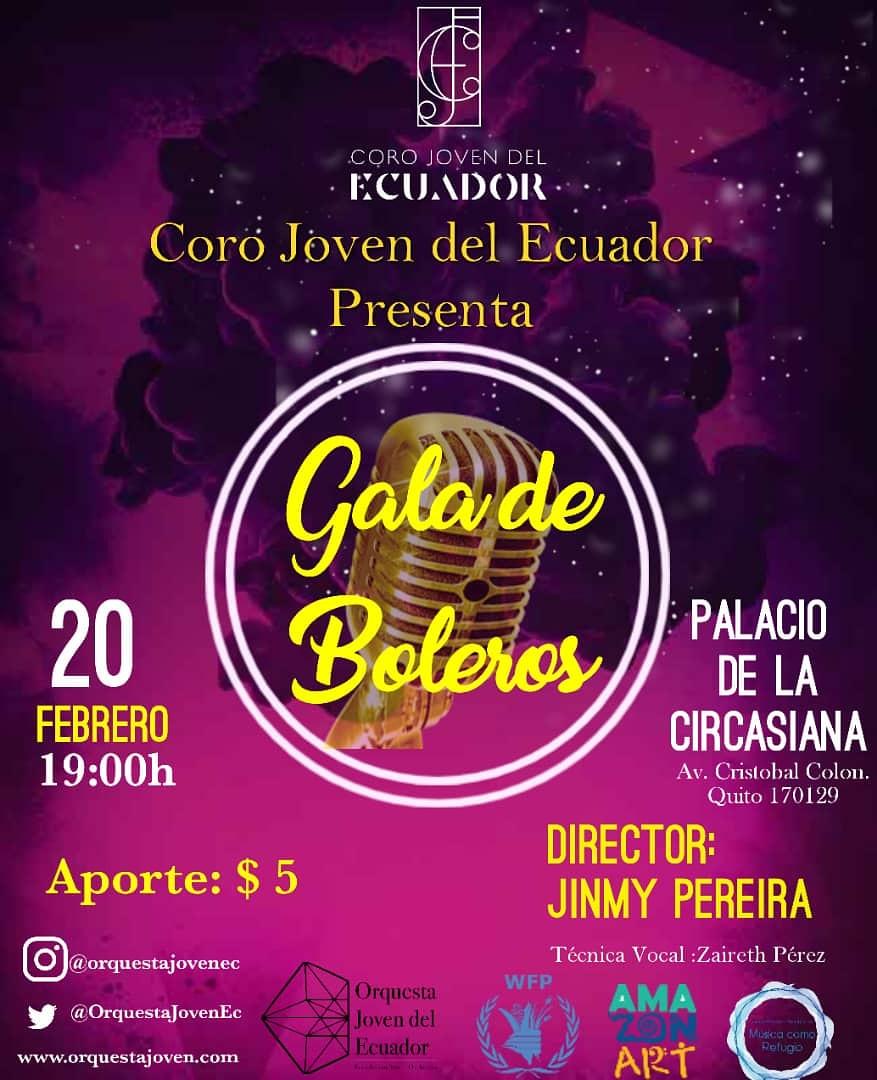 Orquesta Joven de Ecuador ofrecera una Gala de Boleros