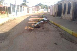 Las aguas contaminadas se apoderan del sector Padre Chacin