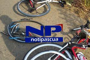 Las bicicletas quedaron destrozadas.