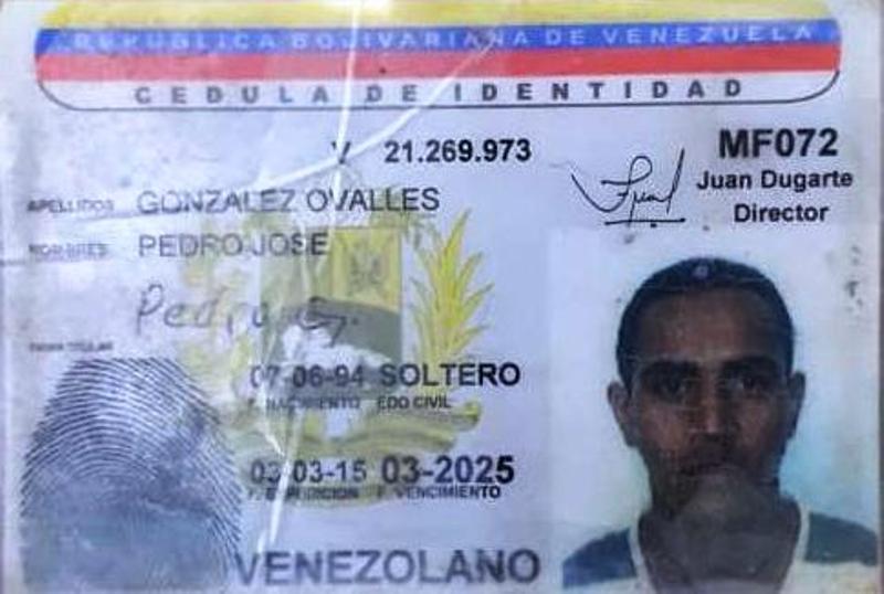 """Gonzalez Ovalles Pedro Jose, arias """"Gago Ovalles"""" fue abatido por el FAES-CONAS"""