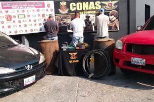 Tres hombres fueron capturados mientras extraían combustible de la antigua Bomba Aragua