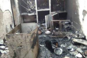 Ladrones incendiaron una casa al no poder robarla