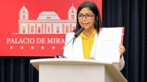 Delcy Rodríguez anunció las cifras de Covid-19