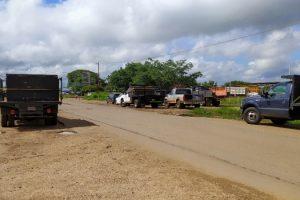 Caveros solicitan gasolina en La Pascua para continuar su trabajo