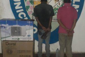 Dos ladrones fueron capturados por el Iapatmi cuando robaban