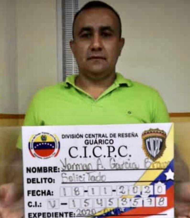 Yorman Alejandro García Bravo evadido