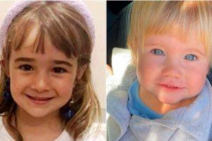 Las pequeñas Anna y Olivia