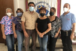 Miembros de la directiva del Colegio de Enfermería en Guárico.
