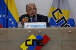 Pedro Calzadilla presidente CNE
