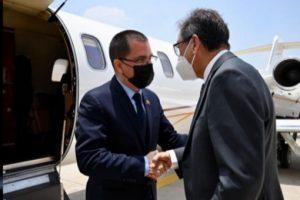 Canciller Jorge Arreaza a su llegada a México