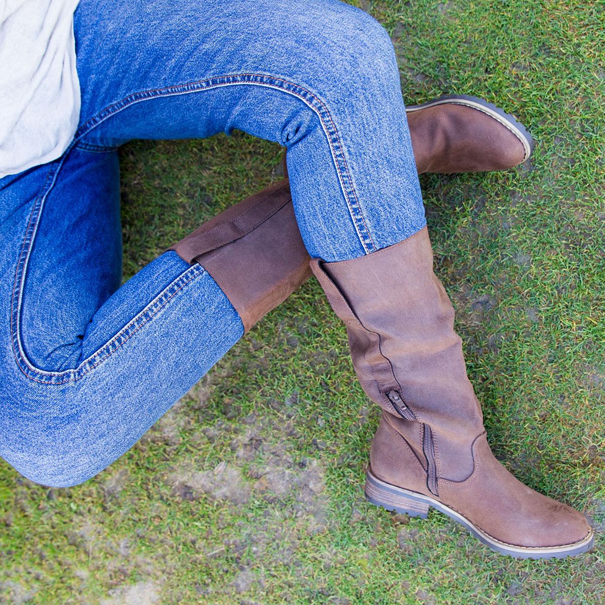 botas planas para mujer